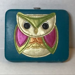 Teal owl wallet